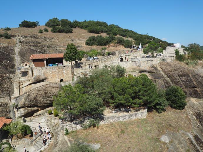 メガロ・メテオロン修道院から見下ろす景色