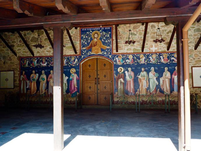 平面的なイコンの壁画