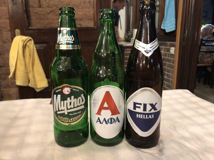 ギリシャビール3本
