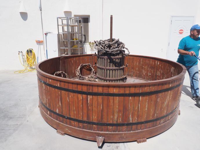 収穫祭のときに使用する桶