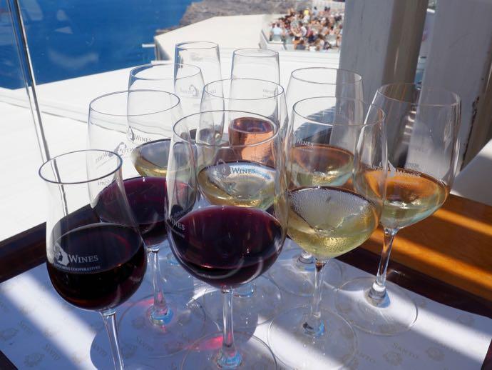 10つのワイングラス