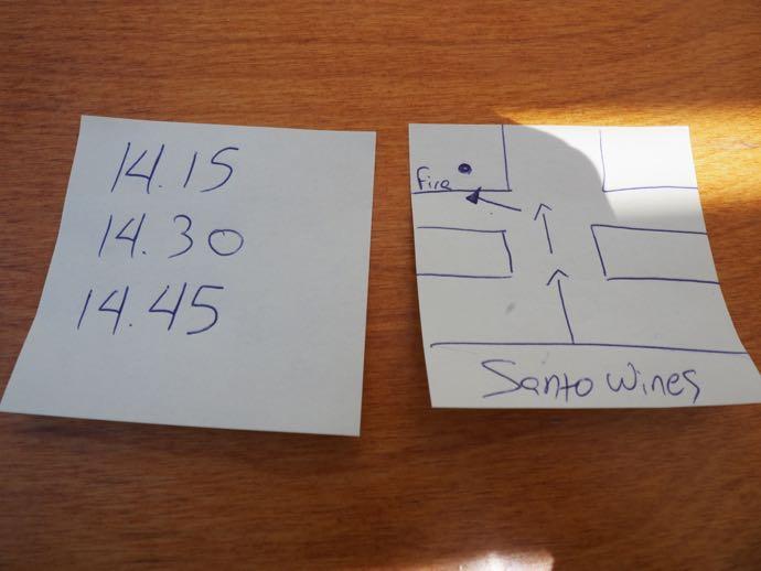 バス停までの地図とバスの時刻表