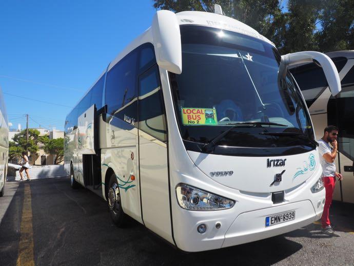 サントリーニ島のローカルバス