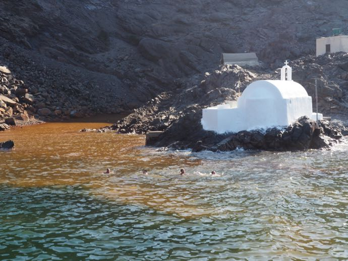 パレア・カメニ島の温泉