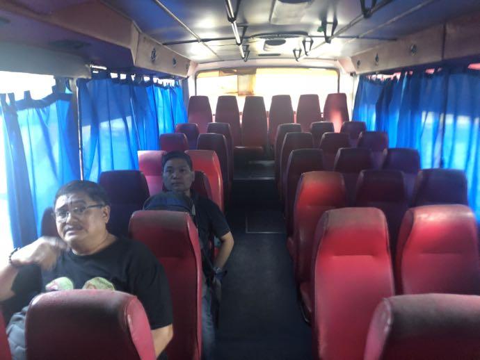 エアポートループバスの車内