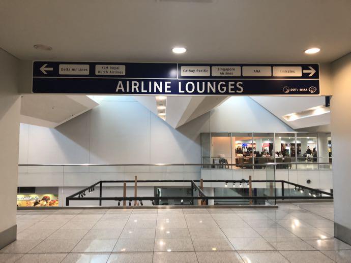 マニラ・ニノイ・アキノ国際空港の4階ラウンジフロア