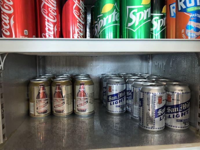マニラ・ニノイ・アキノ国際空港 PACIFIC CLUB LOUNGEのビール