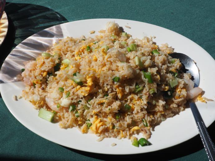 天虹海鮮酒家のラマ島蝦膏炒飯