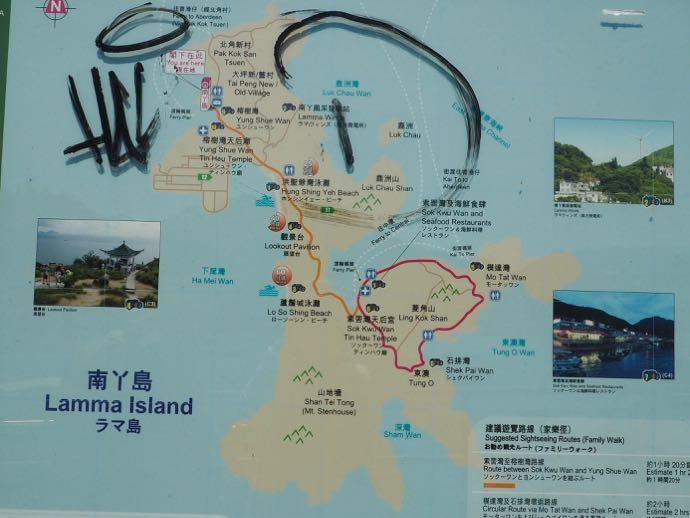 ラマ島の案内図