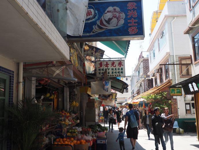 ゆるりとした雰囲気の溶樹湾の商店街