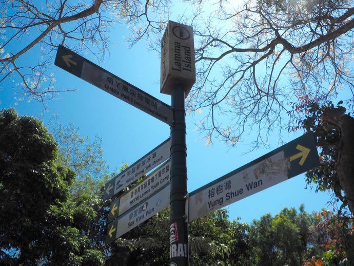 ラマ島の標識