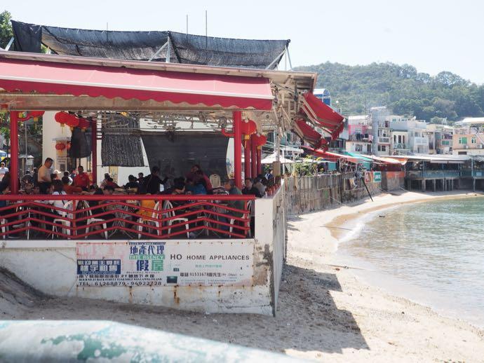 溶樹湾のオープンエアレストラン