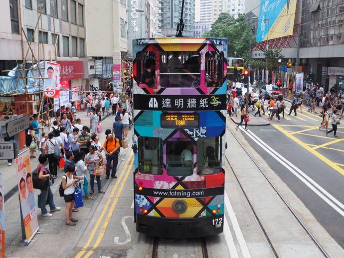 香港の派手なトラム