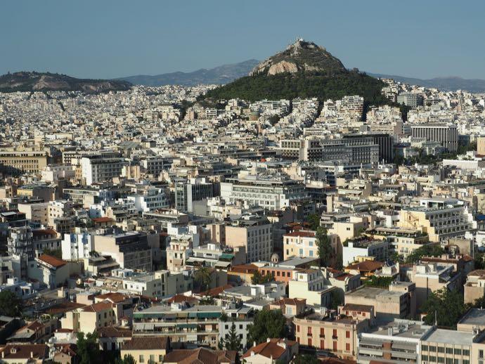 パルテノン神殿の展望台から眺めるアテネ市街