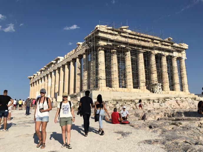 修復中のパルテノン神殿