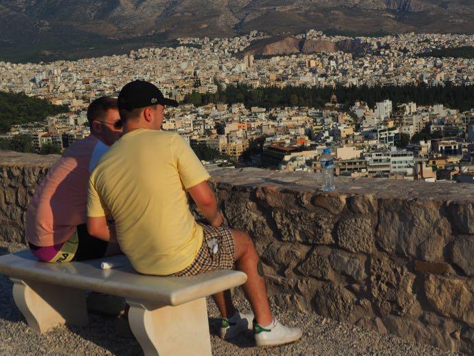 アクロポリスから眺めるアテネ市街