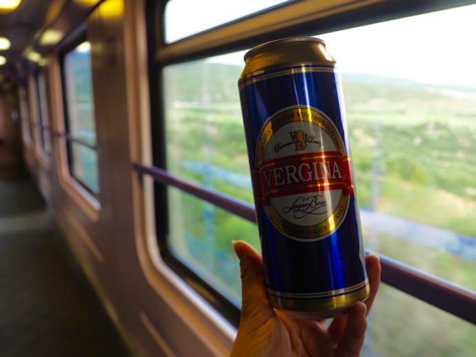 鉄道で飲むビール