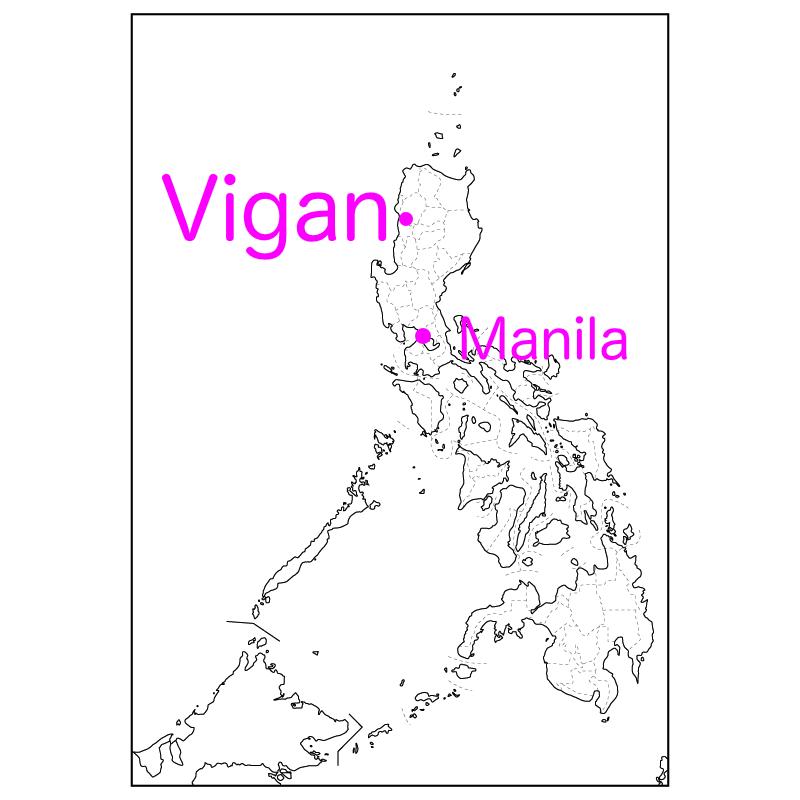 ビガン歴史地区の場所