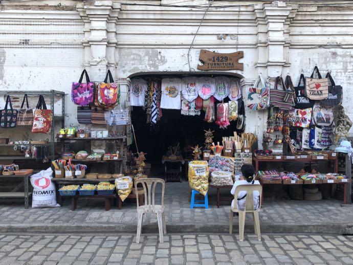 コルソン通りの土産物店