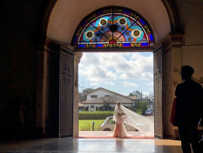 サン・オウガスチン教会(パオアイ教会)での結婚式