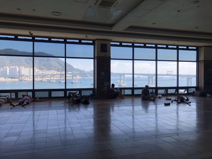 松島ペスピアのチムジルバンは絶景が見える