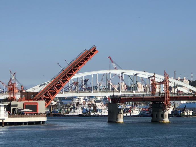 影島大橋の開閉