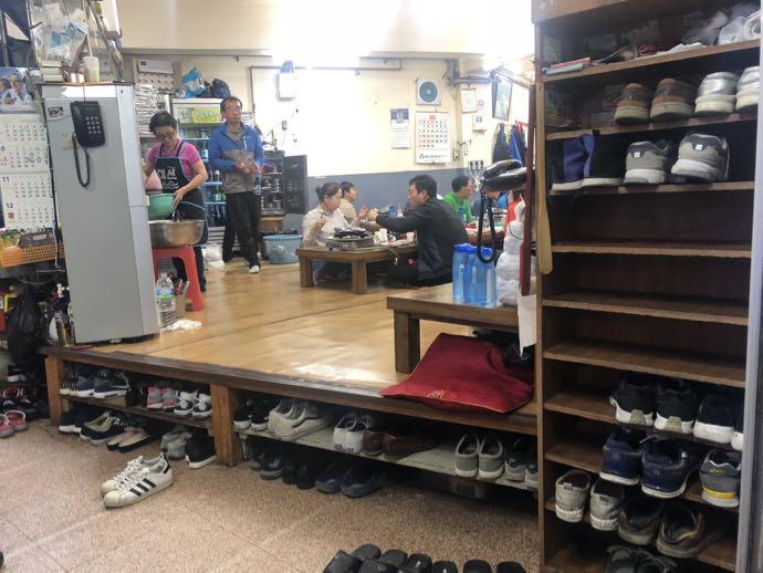 銀河カルビの靴箱スペース