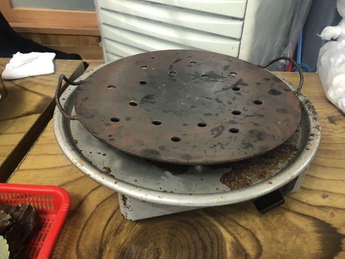 テジカルビ用の鉄板