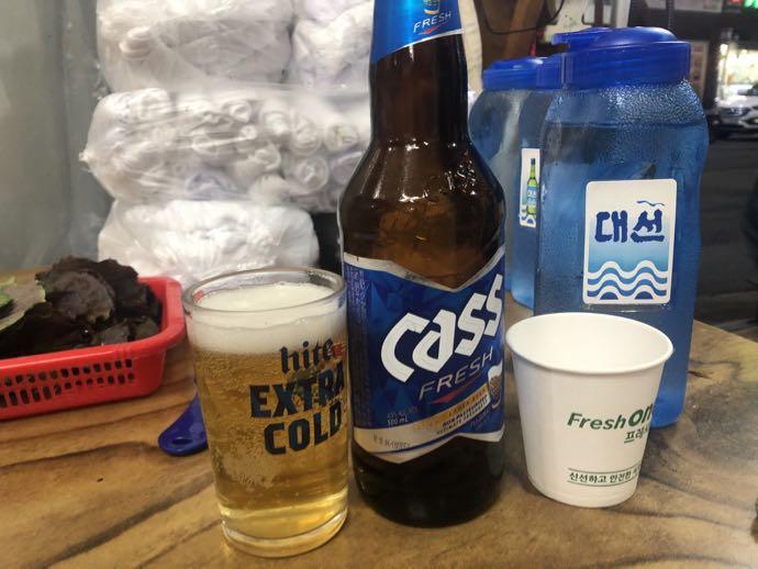 ビールはcass