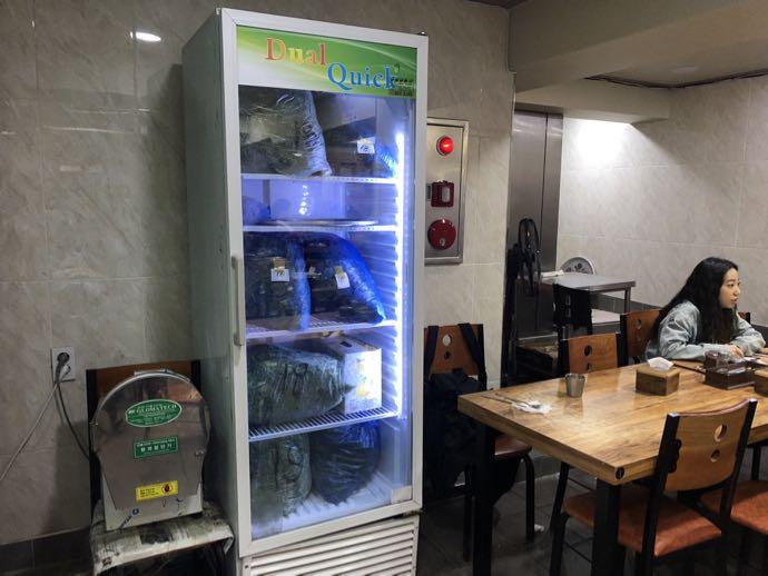 ニラいっぱいの冷蔵庫