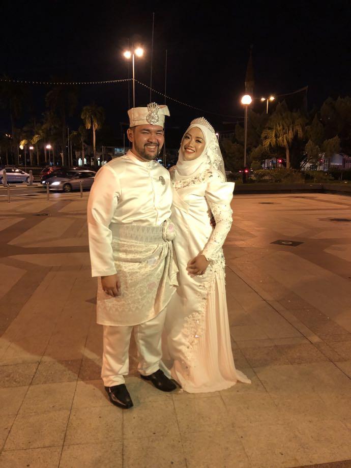 ブルネイの新婚カップル