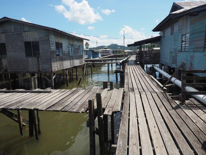 水上集落の三叉路