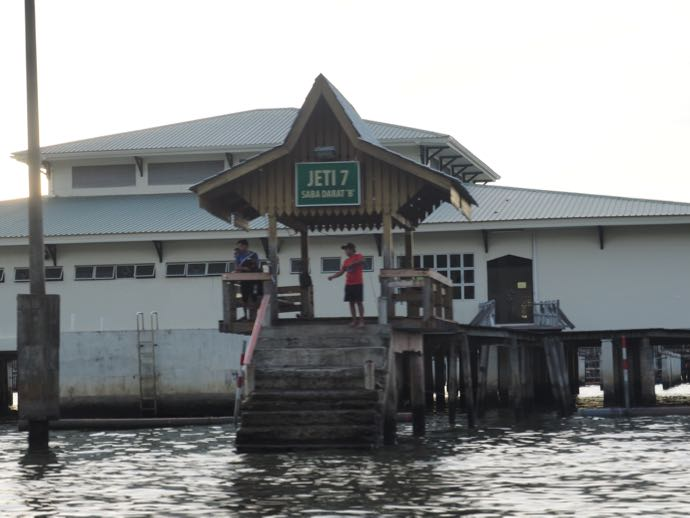水上タクシーの乗り場