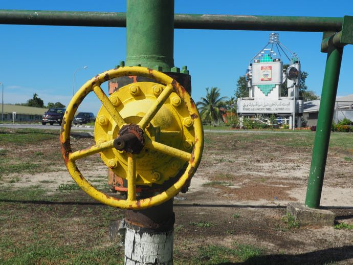 石油のハンドル