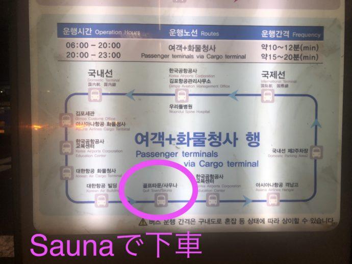 シャトルバスの路線図