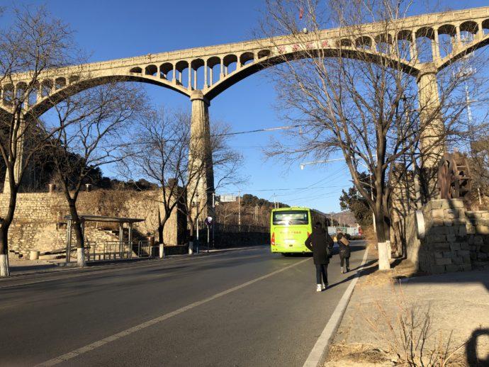 慕田峪長城付近の橋