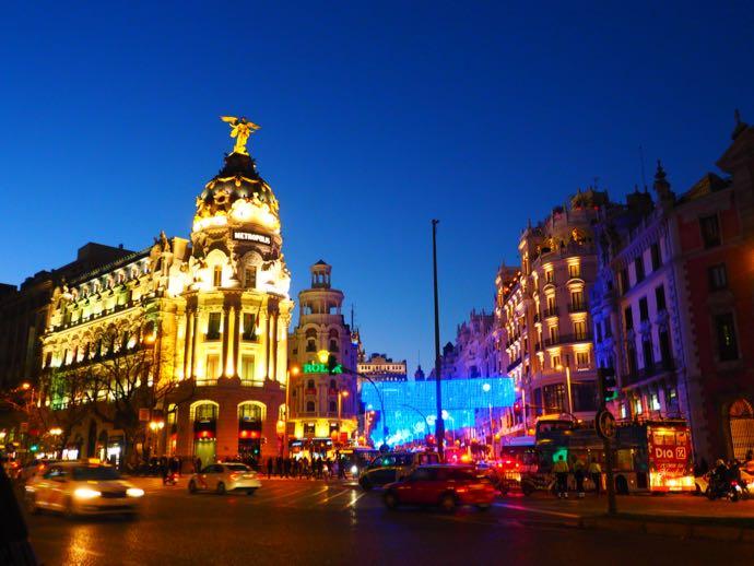 スペインの夜景