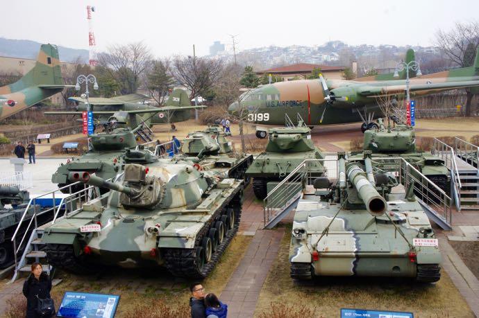 ソウルの軍事博物館の戦車