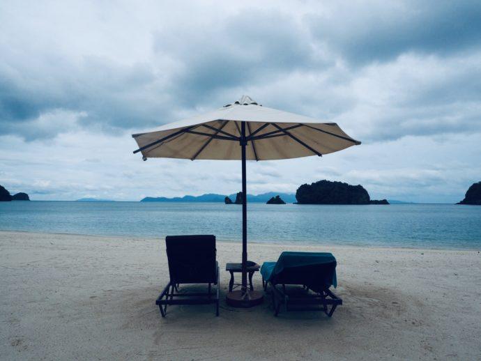 ランカウィ島のプライベートビーチ