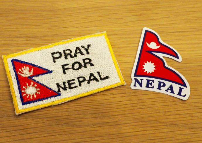 ネパール国旗のワッペンとシール