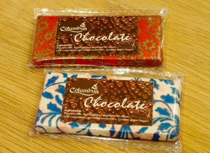包装紙がかわいいチョコレート