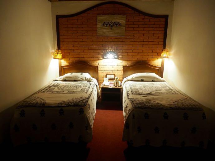 ネワール様式のホテルの部屋