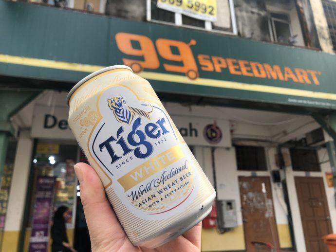 スーパーマーケットでビール購入