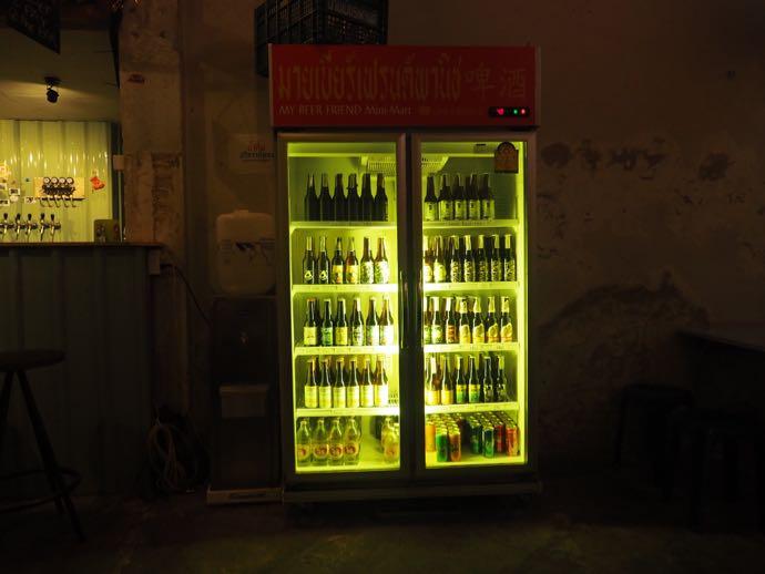 瓶ビールの冷蔵庫