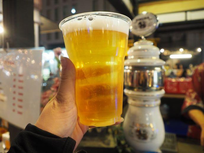 生ビールのシンハー