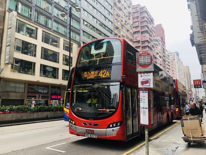 香港を走る2階建バス