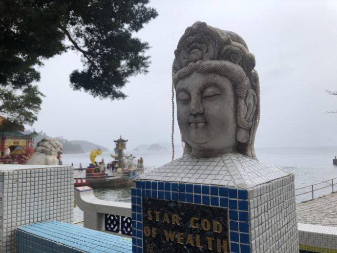 頭部だけの仏像