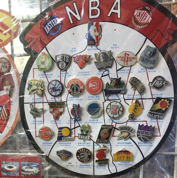 NBAのピンバッジ
