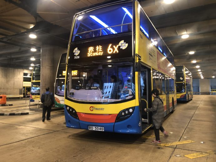 赤柱行きのバス