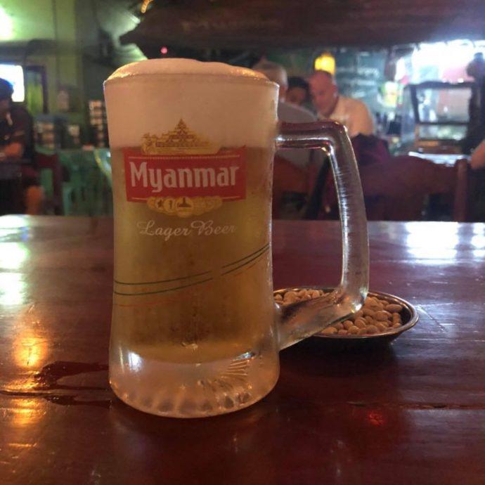 ミャンマーの激安生ビール